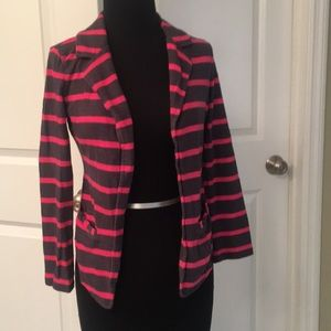 Caslon Striped Blazer Size XSP